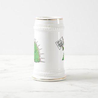Branco e ouro da caneca de cerveja de Greep