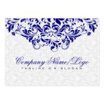 Branco elegante & damascos & redemoinhos dos azuis cartões de visita