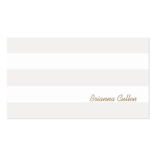 Branco elegante listrado do ponto morto subtil sim modelo de cartões de visita