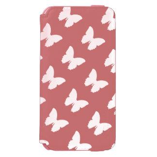 branco em borboletas cor-de-rosa