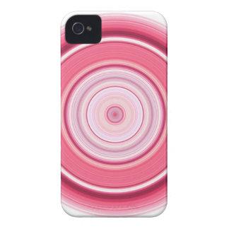 Branco fúcsia do círculo hipnótico capa para iPhone