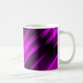 Branco FÚCSIA do FOGO de PURPLE-BLACK caneca do