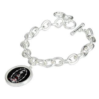 Branco gótico da neve braceletes
