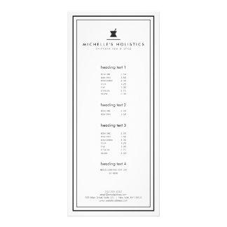 Branco holístico da medicina do Apothecary 10.16 X 22.86cm Panfleto