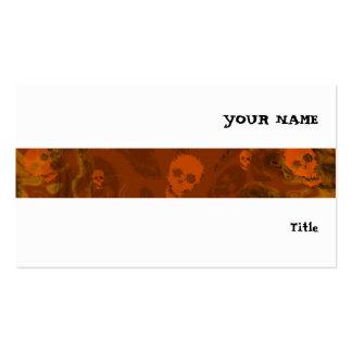 Branco horizontal da listra alaranjada dos cartão de visita