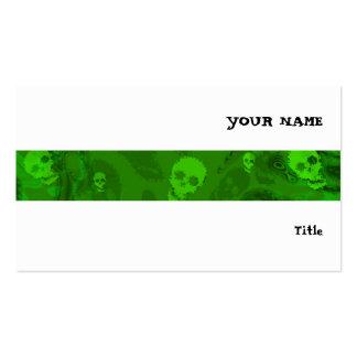 Branco horizontal da listra dos espectros do cartão de visita