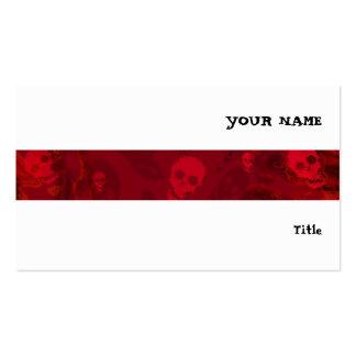 Branco horizontal da listra vermelha dos espectros cartão de visita