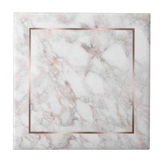 Branco & mármore do falso do Rosa-Ouro