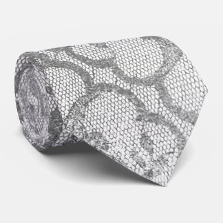 Branco metálico alegre da prata real do preto do gravata