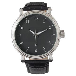 Branco no preto relógio