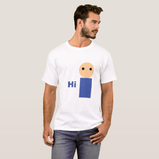 """Branco """"olá!"""" t-shirt camiseta"""