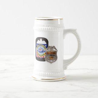 Branco/ouro 22 onças. Caneca de cerveja