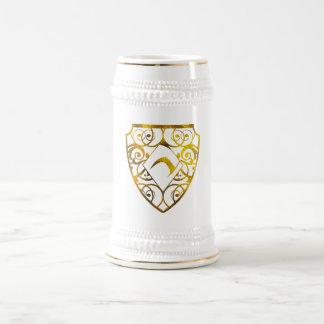 Branco/ouro do clube do diamante caneca de cerveja