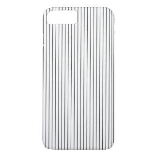 Branco preto chique elegante listrado capa iPhone 7 plus