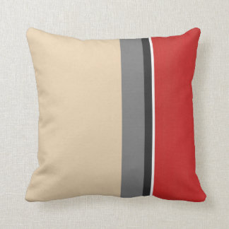 Branco preto cinzento vermelho bege almofada