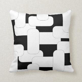 Branco & preto ligados almofada