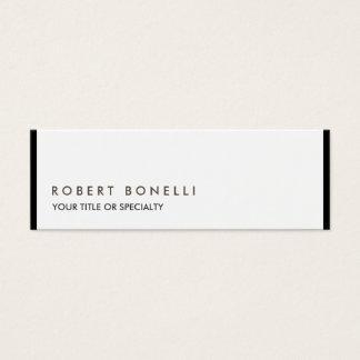 Branco preto moderno original exclusivo cartão de visitas mini