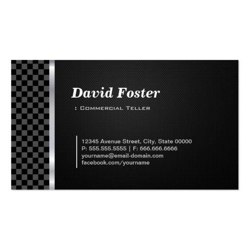Branco preto profissional do caixa comercial cartoes de visitas
