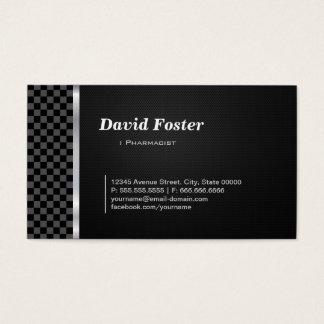 Branco preto profissional do farmacêutico cartão de visitas