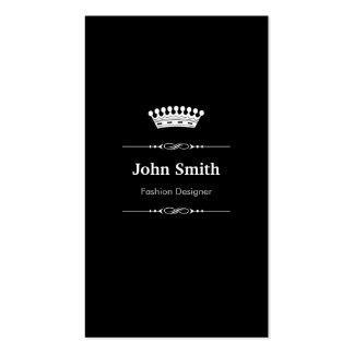 Branco preto real elegante do desenhador de moda cartão de visita