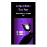 Branco preto roxo do vinho do vinhedo da adega modelo cartões de visita