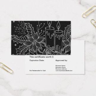 Branco preto simples do certificado do cartão de