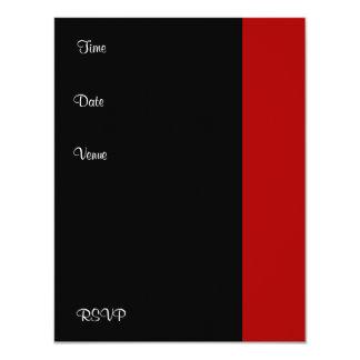 Branco preto vermelho da festa de aniversário do convite