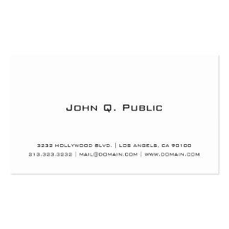 Branco simples cartão de visita