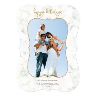 Branco Sparkling e cartão com fotos do ouro boas