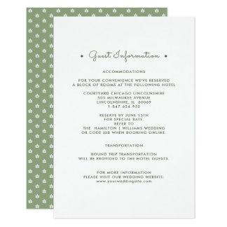 Branco verde dos cartões de informação | do