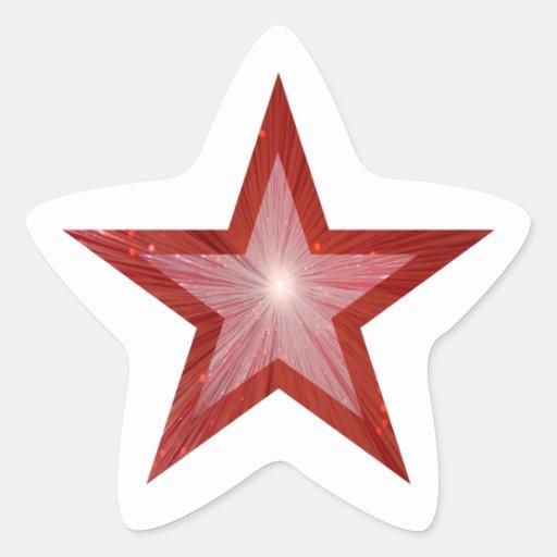Branco vermelho da etiqueta da estrela-forma da es adesivos em forma de estrelas