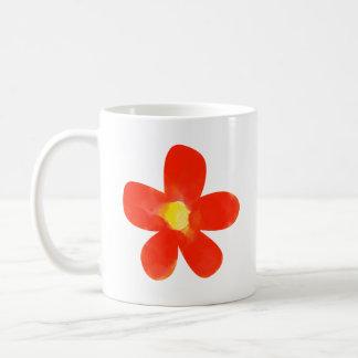 Branco vermelho da flor da cor de água caneca do