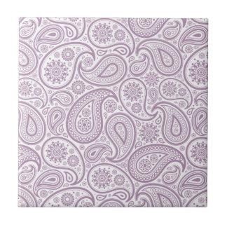 Branco & vintage roxo Paisley da ameixa