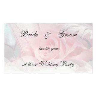 Brandamente convite do casamento do rosa do rosa modelos cartoes de visita