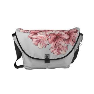 Brandamente flor ilustrada rosa + Cores da Bolsas Mensageiro