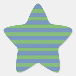 Brandamente verde e teste padrão listrado da adesivos em forma de estrelas