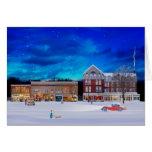 Brandon Vermont em uma noite do inverno Cartões