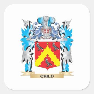Brasão da criança - crista da família adesivo quadrado