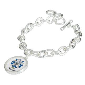 Brasão da crista da família das queimaduras charm bracelet