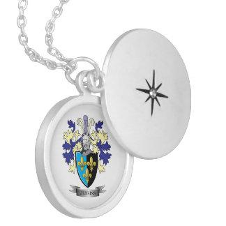 Brasão da crista da família de Jenkins Colar Medalhão