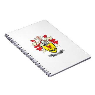 Brasão da crista da família de McDonald Caderno