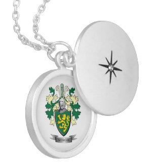 Brasão da crista da família de Morgan Colar Medalhão