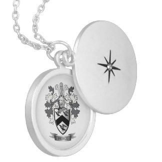 Brasão da crista da família de Reece Colar Medalhão