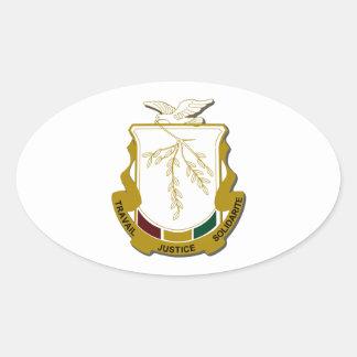 Brasão da Guiné Adesivo Oval