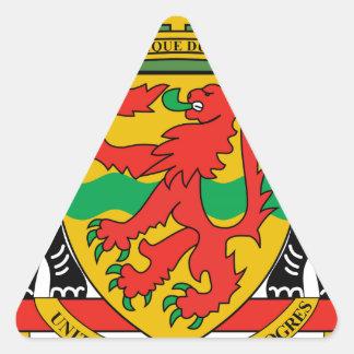 Brasão da República Democrática do Congo Adesivo Triangular