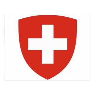 Brasão da suiça - der Schweiz de Wappen Cartão Postal