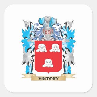 Brasão da vitória - crista da família adesivo quadrado