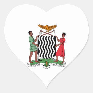 Brasão da Zâmbia Adesivo Coração