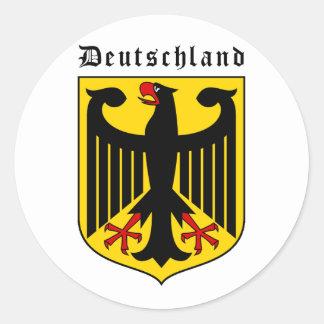 Brasão de Alemanha Adesivo Redondo