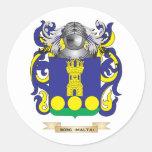 Brasão de Borg- (Malta) (crista da família) Adesivo Redondo